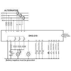 DKG-209 AMF контроллер с LCD дисплеем, фото 3