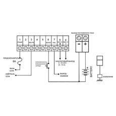 Схема соединений SMPS-2410 с дисплеем