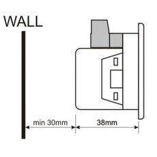 DA-0303 амперметр, 3-фазный, фото 3