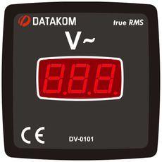 DV-0101 вольтметр, 1-фазный, изолированное питание, Типоразмер: 72х72 мм, фото 1