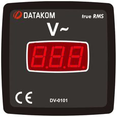 DV-0101 вольтметр, 1-фазный, Типоразмер: 72х72 мм, фото 1
