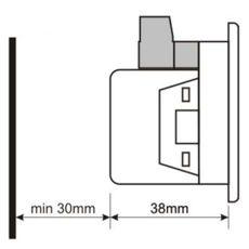 DV-0101 вольтметр, 1-фазный, изолированное питание, Типоразмер: 72х72 мм, фото 4