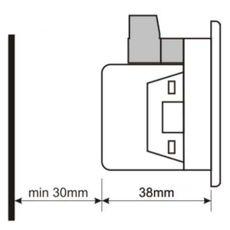 DVF-0103 вольтметр-частотомер, 3-фазный, Типоразмер: 72х72 мм, фото 3