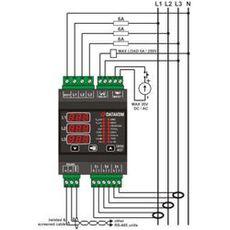 DKM-407 Анализатор сети, DIN Rail, THD, RS-485, 1-вх, 1-вых, AC, фото 2