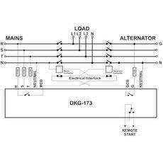 DKG-173 ATS контроллер переключения резерва на DIN рейку, фото 2