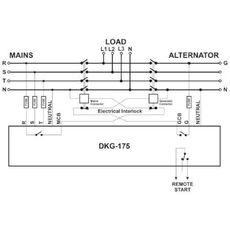 DKG-175 программируемый ATS контроллер переключения резерва на DIN рейку, фото 4