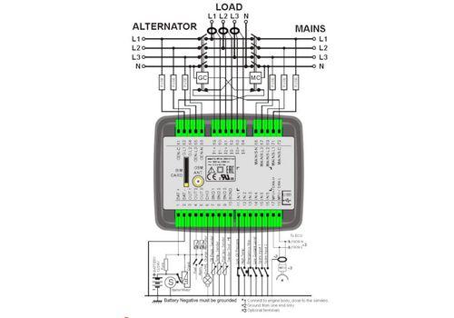 D-200 инновационный контроллер для управления генераторной установкой c резервированием вводов. Подогрев дисплея, опционально J1939-CANBUS и GSM модем, фото 3