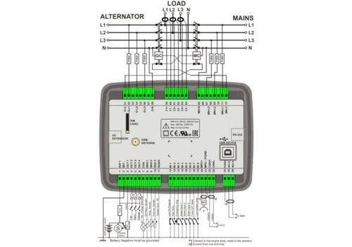 D-500 LITE Инновационный контроллер генераторной установкой с резервированием вводов. Протоколы RS485, RS232, J1939-CANBUS, MPU. Доступен GSM модем, фото 3