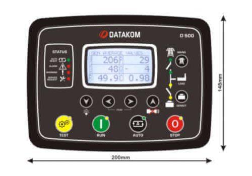 D-500 LITE Инновационный контроллер генераторной установкой с резервированием вводов. Протоколы RS485, RS232, J1939-CANBUS, MPU. Доступен GSM модем, фото 4