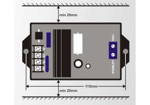 Автоматический регулятор напряжения генератора AVR-4 4А-115В, фото 2