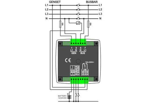 DKG-117 Контроллер ручной синхронизации генераторов, сети и генератора. Проверка синхронизации, фото 2
