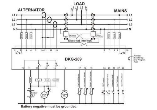 DKG-209 AMF контроллер с LCD дисплеем, фото 2