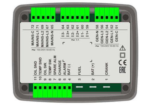 Контроллер автоматического запуска генератора DKG-225 со встроенным зарядным устройством, фото 2