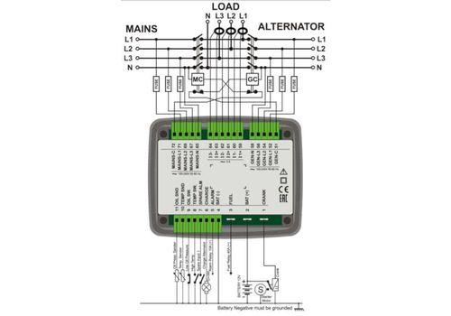 Контроллер автоматического запуска генератора DKG-225 со встроенным зарядным устройством, фото 3