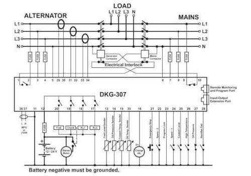 Контроллер автоматического запуска генератора DKG-307, фото 2