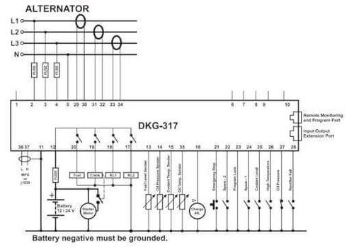 Контроллер автоматического запуска генератора DKG-307, фото 3