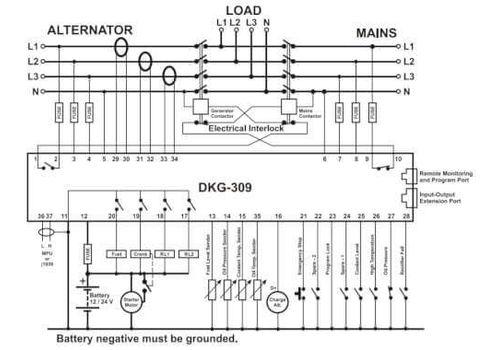Контроллер автоматического запуска генератора DKG-309 MPU c LCD дисплеем, фото 2
