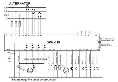 Контроллер автоматического запуска генератора DKG-309 MPU c LCD дисплеем, фото 3