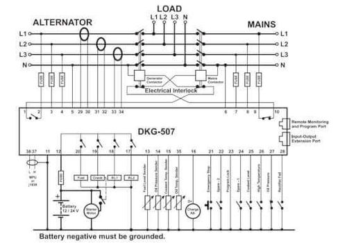 AMF Контроллер автоматического запуска генератора DKG-507, фото 2
