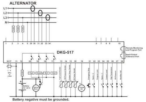 AMF Контроллер автоматического запуска генератора DKG-507, фото 3