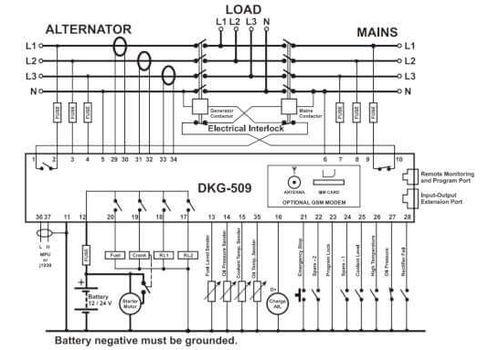 Контроллер автоматического запуска генератора DKG-509 с MPU или J1939-CANBUS и LCD дисплеем, фото 2
