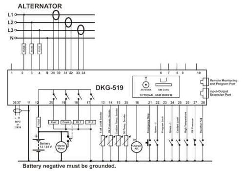 Контроллер автоматического запуска генератора DKG-509 с MPU или J1939-CANBUS и LCD дисплеем, фото 3