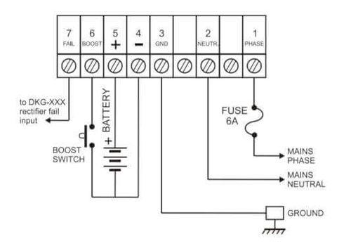 Схема соединений  зарядного устройства SMPS-123