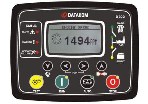 D-300 многофункциональный контроллер управления и мониторинга генератора. J-1939-CANBUS, MPU. Опционально: зарядное устройство и GSM модем, фото 1