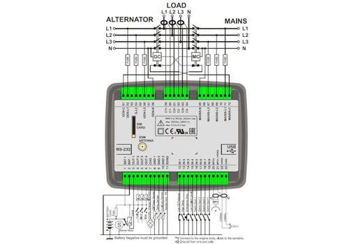 D-300 многофункциональный контроллер управления и мониторинга генератора. J-1939-CANBUS, MPU. Опционально: зарядное устройство и GSM модем, фото 3