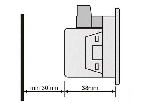 DA-0103 амперметр, 3-фазный, Типоразмер: 72х72 мм, фото 3
