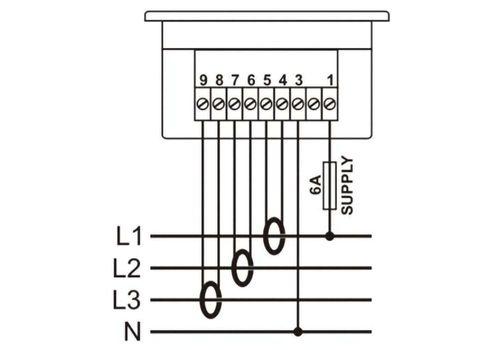 DA-0303 амперметр, 3-фазный, фото 2