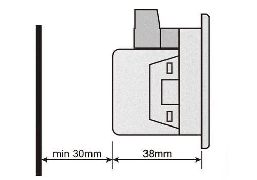 DF-0101 частотомер, 1-фазный, Типоразмер: 72х72 мм, фото 2