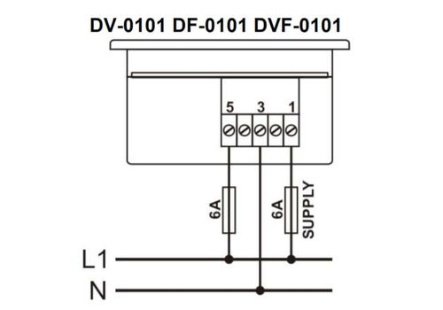 DF-0101 частотомер, 1-фазный, Типоразмер: 72х72 мм, фото 3