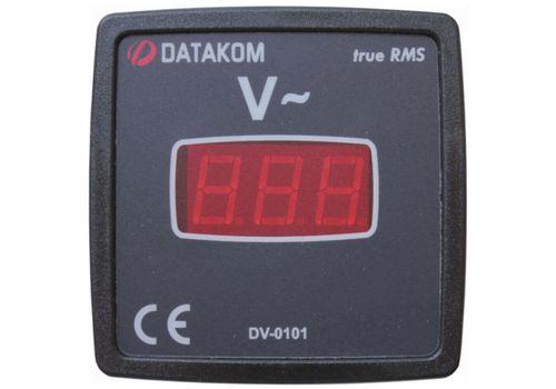 DV-0101 вольтметр, 1-фазный, изолированное питание, Типоразмер: 72х72 мм, фото 2