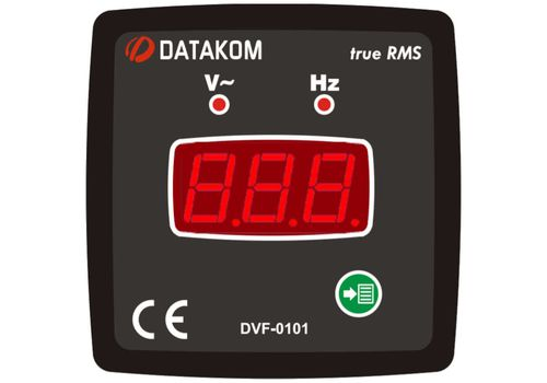 DVF-0101 вольтметр-частотомер, 1-фазный, Типоразмер: 72х72 мм, фото 1