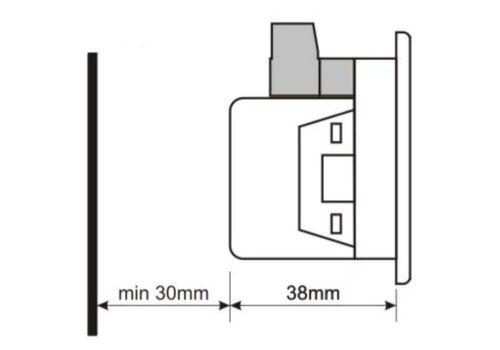 DVF-0101 вольтметр-частотомер, 1-фазный, Типоразмер: 72х72 мм, фото 3