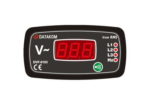 DVF-0103 вольтметр-частотомер, 3-фазный, Типоразмер: 72х72 мм, фото 1