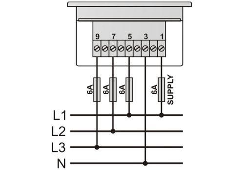 DVF-0103 вольтметр-частотомер, 3-фазный, Типоразмер: 72х72 мм, фото 2