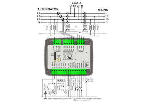 D-100 многофункциональный модуль автоматического запуска генератора с J1939 - CANBUS и подогревом дисплея, фото 3