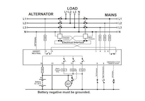 DKG-105 контроллер автозапуска генератора, Составная часть АВР для генератора., фото 3