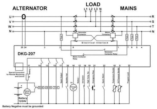 Контроллер для автоматического запуска генератора DKG-207., фото 2