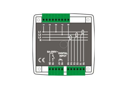 DKM-405 Анализатор сети, 96х96мм, THD, 1-вх, 1-вых, AC, фото 2