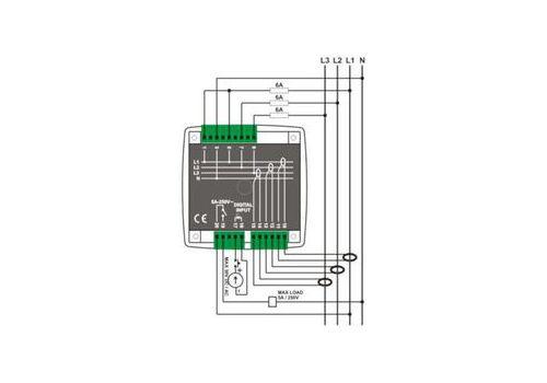 DKM-405 Анализатор сети, 96х96мм, THD, 1-вх, 1-вых, AC, фото 3
