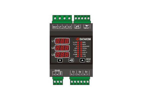 DKM-407 Анализатор сети, DIN Rail, THD, RS-485, 1-вх, 1-вых, AC, фото 1