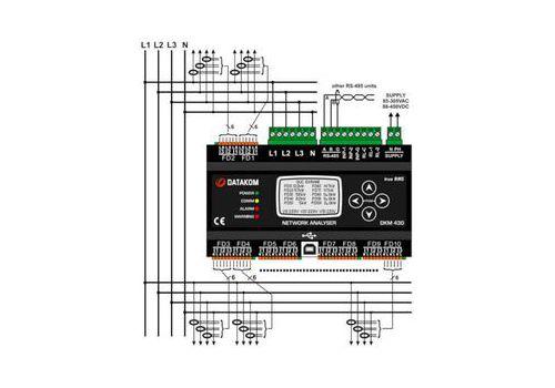 DKM-430 Мультифункциональный анализатор сети, фото 3