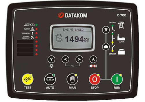 Многофункциональный модуль автоматического запуска генератора с резервированием вводов D-700 Datakom,  ethernet, RS-485б RS-232, modbus и пр. Доступен с цветным TFT монитором., фото 1