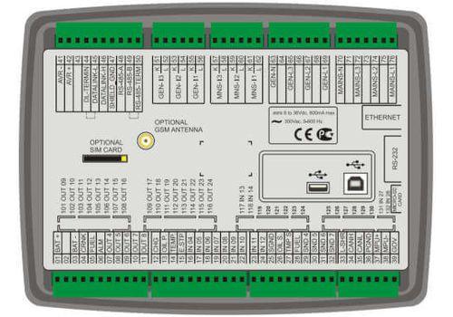 Многофункциональный модуль автоматического запуска генератора с резервированием вводов D-700 Datakom,  ethernet, RS-485б RS-232, modbus и пр. Доступен с цветным TFT монитором., фото 2