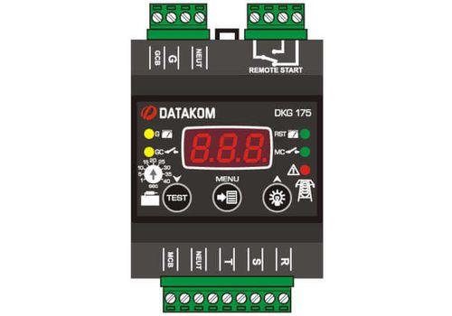 Программируемый ATS контроллер DKG-175 на DIN рейку с дисплеем для комплектации АВР генератора, фото 1