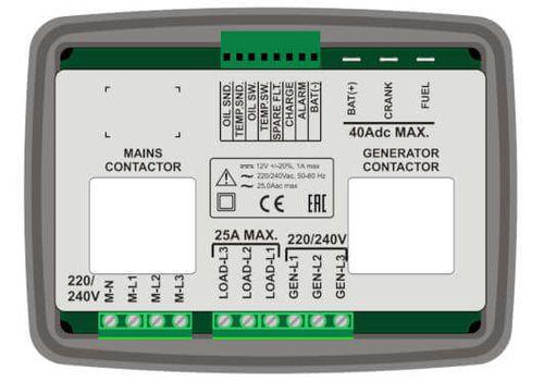 Автоматика для электростанции до 15 кВт DKG-325, фото 2