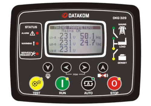 DKG-329 ATS контроллер автоматического переключения реверсивного рубильника с синхроскопом или управлением двумя генераторами, фото 1